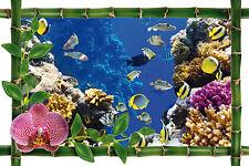 Adhesivo de pared trampantojo trampantojo decoración acuario ref 945