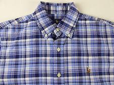Polo Ralph Lauren Oxford Camisa de algodón tela escocesa SS con Multi-Color  Pony  89 -  98 Nuevo con etiquetas c78510b05eb