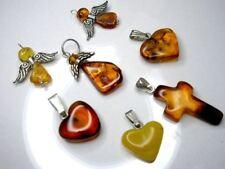 Baltic Amber Pendant - choose your Pendant ( CROSS; HEART; ANGEL )