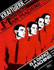 Kraftwerk - The Man Machine - 1978 - Album Release Promo Poster