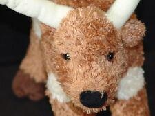 TEXAS 4 SEASONS HOTEL AUSTIN LONGHORN STEER PLUSH STUFFED ANIMAL POSEABLE TOY