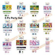 5pc stationary set Pirate Unicorn Princess Pony Club Xmas Birthday Party Filler