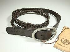 REHARD  Gürtel  Echt  Leder  Metall  Braun  Geflochten  Gr. 80cm, 85cm, 90cm NEU