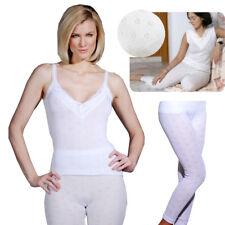 Ladies Thermal Underwear Sleeveless Vests or Long Jane White Soft Underwear
