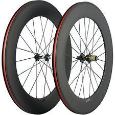 88mm Clincher Road Bike Carbon Wheels Novatec 271 Hub Basalt Braking Line Wheel