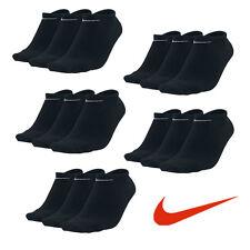 15 Paar NIKE Sneaker Socken schwarz 34-38 S & 46-50 XL15er Pack Füßlinge Low Cut