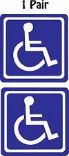 "Pair (2) Handicap Symbol Wheelchair Disabled Decal Sticker 2.0"" x 2.0"" p44"