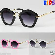 De Chica Niños Infantil Pentagon Forma Marco Elegante Gafas sol UV400 Protección