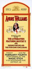 Andre Williams Concert Handbill Artist Mark Arminski