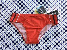 Costume slip COLMAR con righe laterali e logo posteriore - Rosso / Grigio 66606