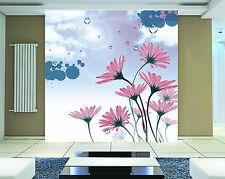 3D Jasmin.Pourpre.Photo Papier Peint en Autocollant Murale Plafond Chambre Art