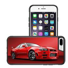 RED NISSAN SKYLINE R34 BUMPER PHONE CASE IPHONE 5 6 7 8 X XS XS MAX XR G7 G8 G9