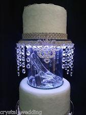 Inspirado en Cinderella deslizador de cristal Pastel De Bodas Separador Topper
