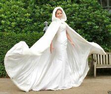 2017 New Long White Bridal Hooded Cloaks Capes Winter Wedding Dress Velvet Wraps