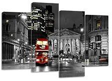 London red bus bank , split canvas prints