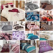 5 tlg Bettwäsche Bettgarnitur Bettbezug 100% Baumwolle Kissen 200x200 cm VAR #5