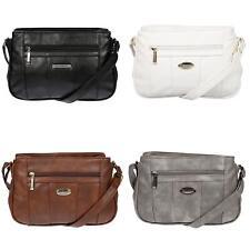Damen Handtasche Schultertasche Umhängetasche Tasche Leder Optik PU Damentasche