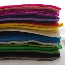 """100% lana feltro tessuto-circa 5mm di spessore-HANDMADE - 12 """" / 1 metro quadrato di fogli"""