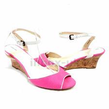 Womens Sandal Wedge Heel Pink Size 4 5 6 7 8 RRP £24.99