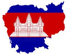 ADESIVI AUTO Cambogia 11x9 cm Cambodia konturg. decal vinile sticker die-cut
