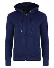 SMITH & JONES New Full Zip Hooded Sweatshirt Fleece Hoodie Hoody Patriot Blue