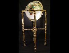 "36"" Tall Floor Standing Pearl swirl Ocean Gemstone World Globe with 4 leg stand"