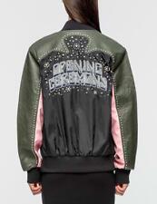 NWT Opening Ceremony Studded Western Varsity Jacket Black Multi Size M $595
