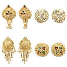 Indian 18k Gold Plated Stud Earrings Variations Jhumki Jhumka Fashion Jewelry