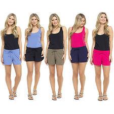 Ladies Girls Summer Holiday Women Jersey Cotton Hot pants beach Shorts