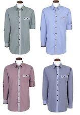 Spieth Wensky Trachtenhemd karo Oktoberfest Hemd Trachten Hemd Slimfit blau rot