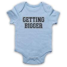 GETTING BIGGER BODYBUILDING WORKOUT SLOGAN GYM BABY GROW SHOWER GIFT