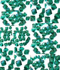 12mm Authentic Preciosa Czech Crystal Dk Emerald Bicone Beads-U Pick Quantity