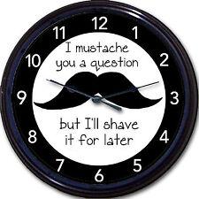 "Handlebar Mustache Shave Barber Beard Barbershop Wall Clock New 10"""