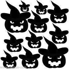 Sticker Planche Halloween Citrouilles Chapeaux, Tailles Coloris Divers (HAL012)