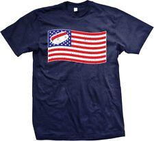 Hotdog American Flag- Funny Hot Dog Fourth Of July BBQ Summer Fun -Mens T-shirt