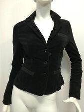 Giacca Jacket Armani Jeans Donna velluto liscio nero E5N14PX