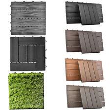 WPC Fliesen Terrassenfliesen Royal | Klick Fliese in Holz Kunststoff Garten DIY