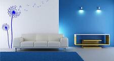 Dandelion soffiando nel vento Decalcomania Decor. parete In Vinile Adesivi. 120 cm altezza NUOVO