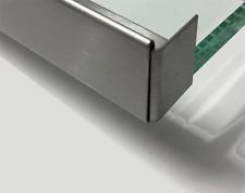 Edelstahl Regenrinne für Glasvordach Einfassprofil b=18 mm  1.4301 Schliff K320.