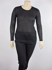 Katies Ladies Long Sleeve Scoop Neck Top sizes Small Medium Large Colour Black