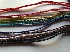 Halskette Leder geflochten Halsband Rosa Pink Blau Orange Lila 45-47cm verstellb