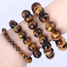 Perle d'oeil de tigre naturel Lucky bless Beads Bracelet de bijoux femme homme