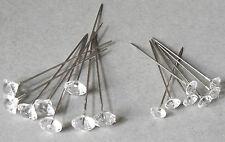 20 Perlennadeln Diamantnadel Stecknadel Hochzeit Rosennadel Dekonadel Nadel