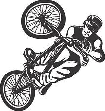 BMX bike stunt action vinyl wall art sticker boy bedroom study (#2_034)