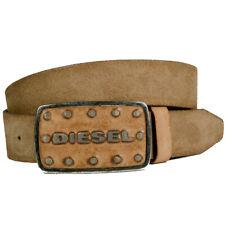 Diesel cinturón Batto Belt cuero marrón con hebilla nuevo-Wow