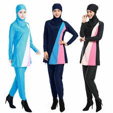AU Full Cover Muslim Swimwear Attached Hijab Islamic Swimsuit Burkini For Women