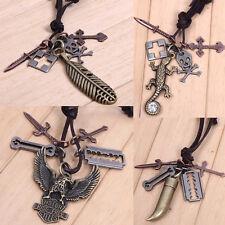 LEDER KETTE SERIE 1!Leder Halskette, Surfer Ketten, Leather Necklace Kette