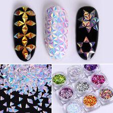 Colorful Unicorn Nail Art Glitter Chameleon Triangle Iridescent Flakes Sequins