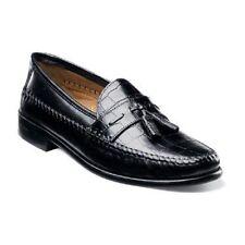 Florsheim Mens Pisa Black shoes crocodile print Leather tassels slip on 18469-01