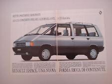advertising Pubblicità 1986 RENAULT ESPACE